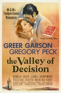 The Valley Of Decision film afişi